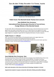 Public Forum Marshall Islands Nuclear Zero Lawsuits